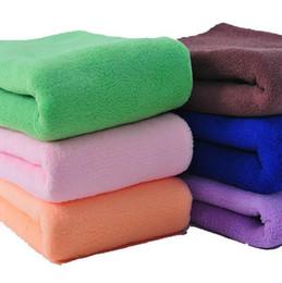 """Toalhas de banho microfibra on-line-Toalha de mão toalha de microfibra rápida seca fina 180 toalhas gs30 30 * 70 cm 28 """"* 12"""" folha macia banho de praia yoga banho absorvente panos de pano de secagem"""