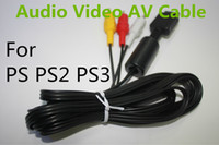 Wholesale 6 Ft Audio Video AV Cable cord to RCA for Sony PlayStation PS2 PlayStation PS3