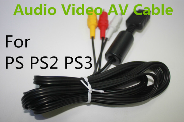 top popular 6 Ft Audio Video AV Cable cord to RCA for Sony PlayStation 2 PS2 PlayStation 3 PS3 2021