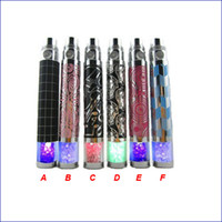 Wholesale Electronic Cigarettes Crystal Batteries - Diamond LED EGO battery colourful e cig ego battery eGo-T eGo W eGo C Battery colourful Crystal decoration Batteries for all E cigarette
