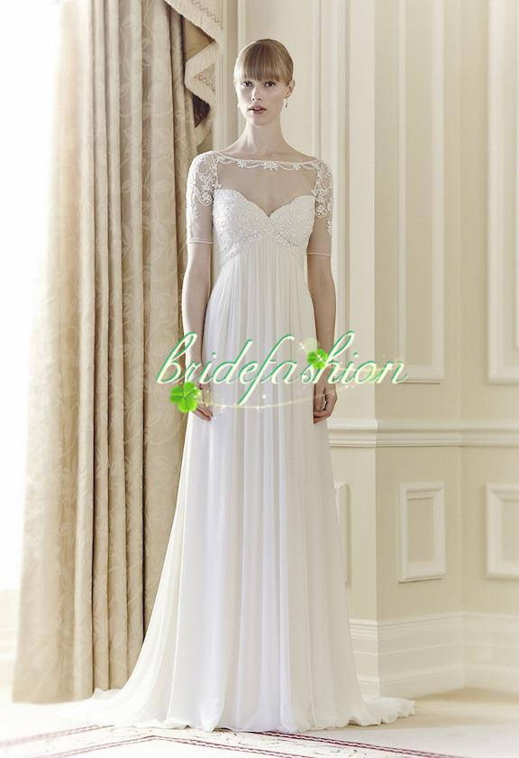 2014 Amazing Sheath Wedding Dresses Sexy jenny packham Evening dresses Summer Beach Formal Gowns