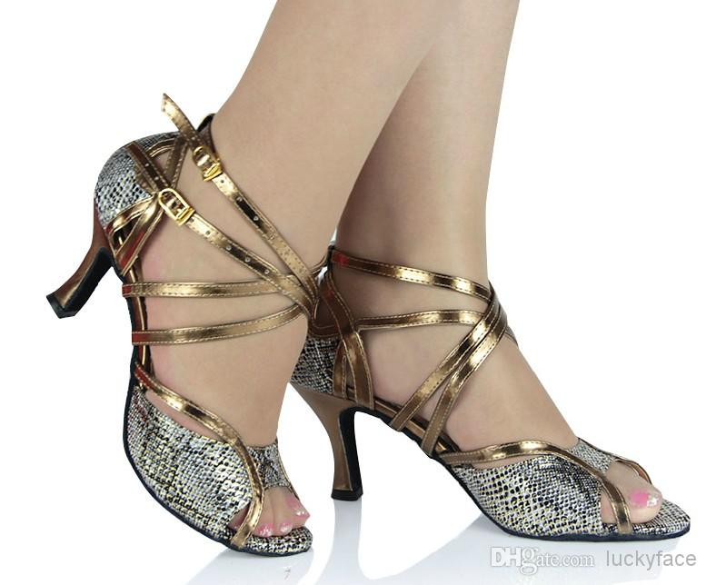 Zapatos de bailes latinos de cuero R5H1A0StgB