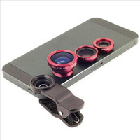 """Wholesale Samung S3 - 180"""" Wide Angle+ Macro+Fish Eye Lens For iPhone 5 5S 4 Samung S4 S3 50sets Lot DHL Free Shipping"""