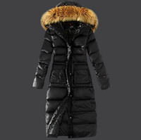 Wholesale Winter Coats Norway - WOMEN X- LONG PARKAS WITH FUR COLLAR WINTER DOWN COATS RED WOMEN'S JACKETS SWEDEN NORWAY CANADA M0NCLE*R 5
