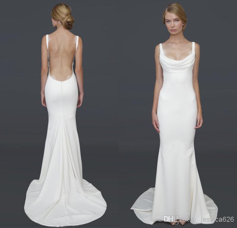 Cowl Neckline Wedding Gowns: 2014 Hot Recommend Barcelona Gown Gorgeous Cowl Neckline