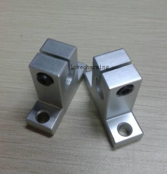 top popular 4pcs SK16 16mm Linear Rail Shaft Support XYZ Table CNC 2021