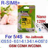 Wholesale Apple 128k - R SIM 8+ R SIM8 PLUS Dual Sim Card Supporting unlock for iPhone 5 4S 128K Nano 3G Card IOS7 ios 7.0.3 No Need Jailbreak