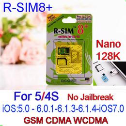 Wholesale R Sim8 - R SIM 8+ R SIM8 PLUS Dual Sim Card Supporting unlock for iPhone 5 4S 128K Nano 3G Card IOS7 ios 7.0.3 No Need Jailbreak