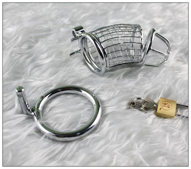 Fil en acier inoxydable Mâle Chaotty Belty Device Cock Penis Cage Bague BDSM Sex Toys