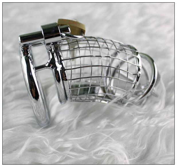 Rostfritt stål Wire Man Chastity Belt Device Cock Penis Cage Ring BDSM sexleksaker