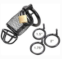 Wholesale Chastity Belt Wire - Newest Black Steel Wire Male Chastity Belt Device Cock Penis Cage Ring BDSM Sex toy 3 size