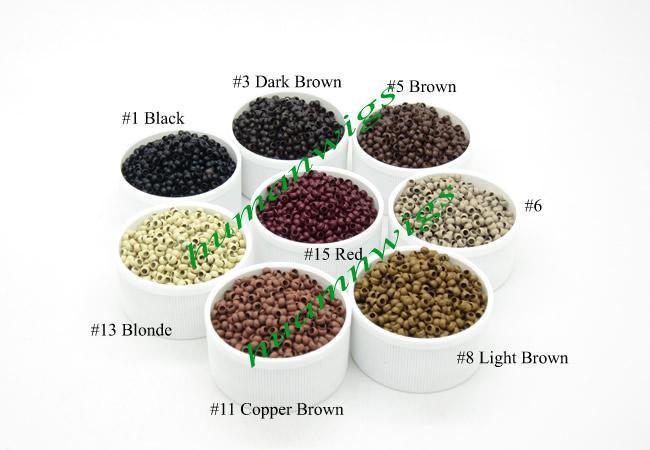 2.5 mm diámetro micro nano anillos / enlaces / perlas para nano anillos extensiones de cabello, herramientas de extensión de cabello, es Avialable, envío gratis