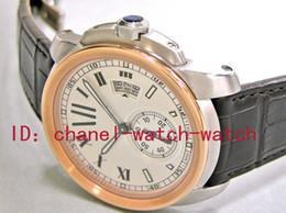 Vendedor de la fábrica a estrenar Calidad AAA Calibre De Auto Steel / Gold W7100039 Relojes de pulsera automáticos mecánicos para hombre Dial de plata Relojes de pulsera de los hombres desde fabricantes