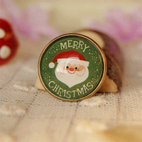 Wholesale Personalized Christmas Ornament - Warm Christmas Santa Clauses Pins for Kids Christmas Broches Personalized Christmas Ornaments 20mm xz22