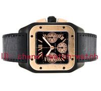 relógios mecânicos masculinos venda por atacado-Excelente Nova Marca de Qualidade AAA 100 XL 18 K Rose Gold Preto PVD Relógio Mecânico Automático dos homens Mens Data Sports Relógios de Pulso