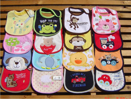 Wholesale u choose - Hot Sale Baby Cartoon Animals Owl Bibs 3-layer baby waterproof bibs baby bibs infant saliva towels Xmas U choose