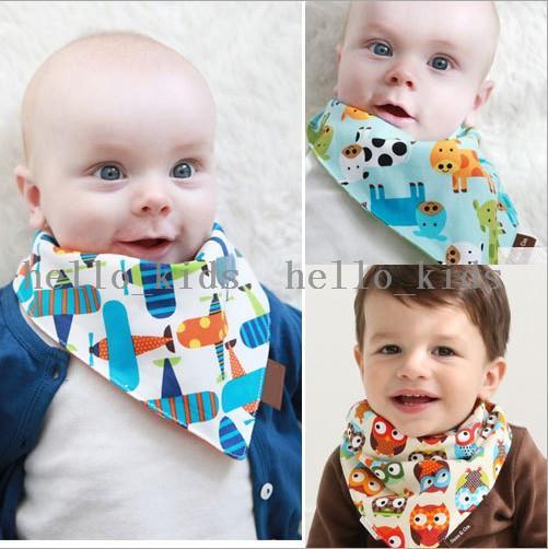 Baby Bandana Scarf Bibs Feeding Clear Triangle 100% Cotton Kid Head Scarf Infant Bibs Burp Cloths