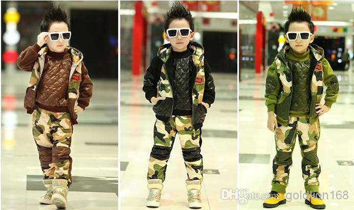 2019 Hot Sale New Children S Outfits Boy S Camo Printing