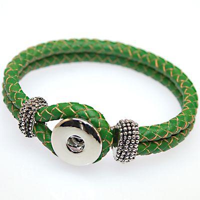 Noosa Charm Bracelets 브리드 리얼 가죽 Noosa 브레이슬릿이 우리의 Snap Noosa Chunk Charms에 맞습니다.