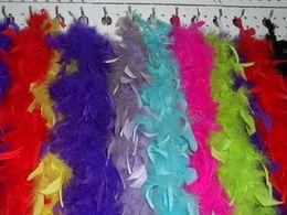 Wholesale Wholesale Wedding Feathers - Chandelle Feather Boa Turkey Feather Boa Marabou Feather Boa 40g pcs Any Colors Marabou Feather Boa Wedding Ceremony Boas Many Colors