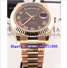Wholesale president ii - Men DAY II PRESIDENT ROSE GOLD CHOCOLATE DIAL ROMAN Limited Automatic Movement Mechanical Men's High Quality Watches