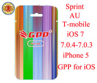 Wholesale Iphone5 Ios7 Unlock - GPP FOR iOS7 iOS 7.0.4 iOS 7.0.3 iOS 6.1.4 iphone5 5G 5S 5C Real GPP Turbo Sim Nano Unlock iPhone 5 ios 7 CDMA GSM Sprint AU SB IOS 7