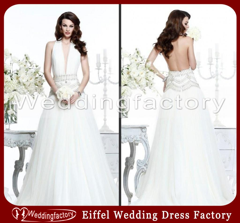 Discount Sexy Wedding Dresses For Mature Women A Line Halter Backless Prom  Gowns With Indian Style Beads Tidebuy Wedding Dresses Vintage Wedding  Dresses ...