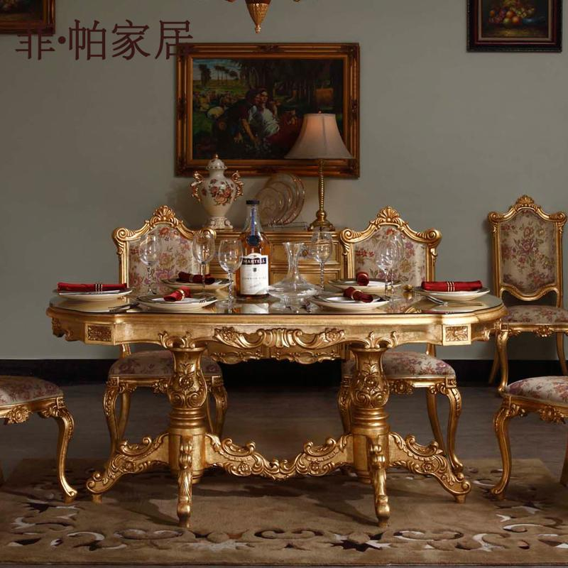 Royal Classic Furniture   Handwork Gilding Golden Foil Royalty Dining Table Royal  Furniture Golden Foil Furniture Handwork Furniture Online With ...
