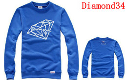 Wholesale Cheap Diamond Hoodies - Mens Sportswears Blue Diamond Thick Hoodies male comfortable Sweatshirts For Men Diamond Sweatshirt Hoody for Men Cheap Sweatshirts Best