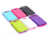 Wholesale S3 Hard Case Dual Layer - Dual Layer Candy Bright Hybrid Hard Case Cover for Samsung Galaxy S IV S4 4 i9500 shockproof rubber case defender case for S3 SIII I9300