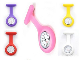 Wholesale Cheap Good Watches - 21 Colors Nurse Watch New Soft Silicone Kids Watch, Good Quality colorful doctor Watch Cheap price high quality candy color nurse watch