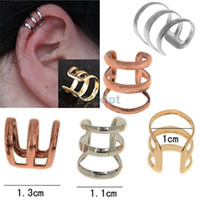 Wholesale New Ear Cuffs - New Ear Cuff Delicate Non-pierced Ears Earring Jewelry Gold Silver Bronzed Ear Clip Earrrings Free [JE05030*45]