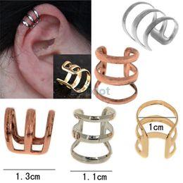 Wholesale New Ear Cuffs - New Ear Cuff Delicate Non-pierced Ears Earring Jewelry Gold Silver Bronzed Ear Clip Earrrings Free [JE05030*45]
