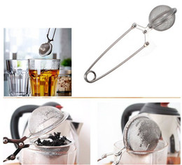 Wholesale Tea Infusers Pots - Tea Infuser Stainless Steel Tea Pot Infuser Sphere Mesh Tea Strainer Tea Balls 4.5cm
