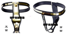 Wholesale Titanium Female Chastity Belt - Newest Female Fully Adjustable T-type Titanium steel chastity belt device with prevent masturbation shield BDSM sex toy