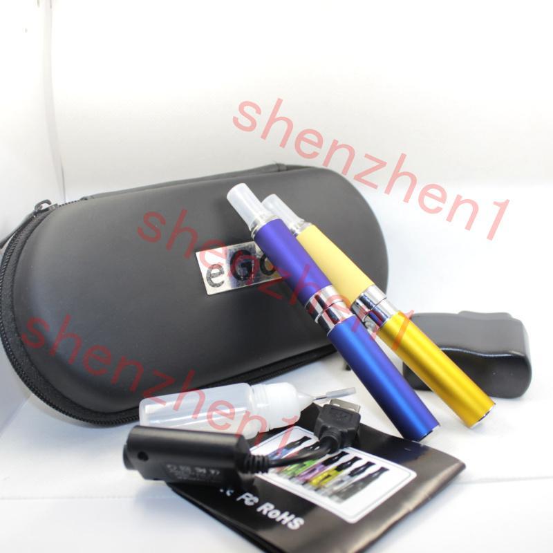 MT3 EVOD Double Ego Starter E-cig Kits E-Cigarette Zipper Case 650 900 1100mah 2 clearomizer Atomizer 2 Electronic Cigarette battery