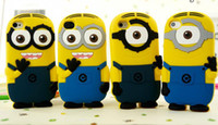 Wholesale Despicable Iphone 4s Cases - 3D Despicable Me more minions silicone case for Iphone 6 6 Plus 4S 5S 5C Ipod touch 4 5 Samsung galaxy S3 S4 S5 S6 Despicable case