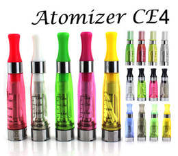 Wholesale Wholesale Clearomizers Wicks - eGo T CE4 Atomizer CE4 Clearomizers e Cigarette 4long Wicks 1.6ml 2.4ohm for eGO T eGo kits 8 Colors E Cig Cartomizer