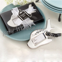 Wholesale Gift Suitcases - Free Shipping!50pcs lot! Airplane Luggage Tag in Gift Box with Suitcase Tag Wedding Party Favors!Travel Luggage Tags Wedding Favors