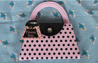 Wholesale Wholesale Personal Care Kit - Vogue Pink Polka Purse Slippers Nail Care Personal Manicure & Pedicure Set, Travel & Grooming Kit Wedding Party Favors