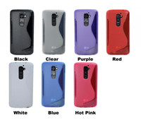 Wholesale Lg G2 S Cover - 100PCS For LG G2 D802 2013 S-Line S Line Grip Silicone Gel TPU Case Cover Skin 8 Color