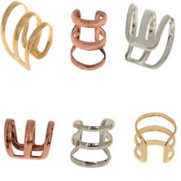Wholesale Ear Bronze Punk - Brand New Punk Rock Ear Clip Cuff Wrap Earring No piercing-Clip on Silver Gold Bronze[JE05030*30]