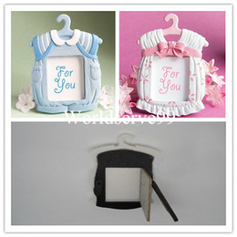 Wholesale Cute Babies Photo Pink - Cute Baby Theme Resin Photo Frame Wedding Favor Baby Shower Picture Frames Gifts Pink Blue