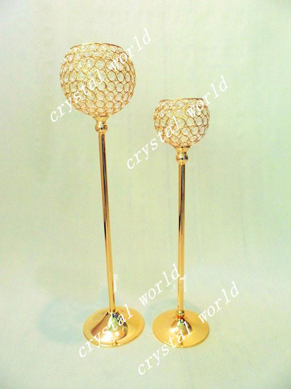 tall crystal candle candelabra for wedding birthday party items birthday party kits from david137 dhgatecom - Gold Candle Holders
