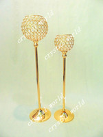 Wholesale Wholesale Crystal Tall Candle Holders - tall crystal candle holder candlestick candelabra for wedding
