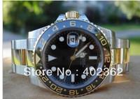Wholesale Luxury Ii Perpetual - Free Shipping Luxury wristwatch Mens Perpetual II Ceramic Bezel Watches 18k Gold Steel Bracelet 116713 Sports Master Dive Wristwatch