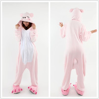 Wholesale Cosplay Anime Detail - Details about Pink Pig Kigurumi Cosplay Costumes Pajamas Animal Onesie Sleepwear S M L XL