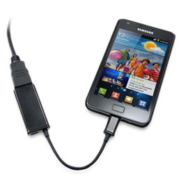 Wholesale S3 Hdmi Hdtv Adapter - S5Q MHL Micro USB To HDMI HDTV Adapter Charge Cable For Samsung Galaxy S3 i9300 AAABCG