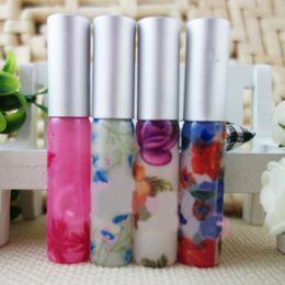 pinturas de rodillos Rebajas Botella de perfume recargable de la botella de perfume del vidrio del rodillo 5ml cosméticos que empaquetan la botella 10pcs / lot DC569