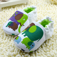 Wholesale Owl Print Fabric - Spring Fall Baby First Walker Shoes Cartoon Owl Elephants Toddler Soft Bottom Shoes 0-1Year Infant Shoe 6pair lot QZ369